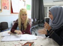 Studying Palestinian Arabic while teaching English