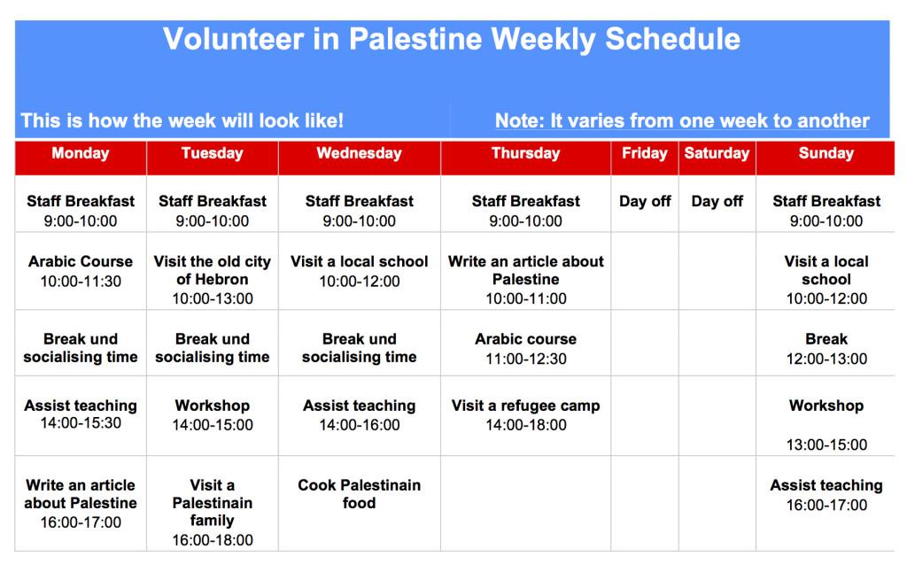 Weekly Plan at EC