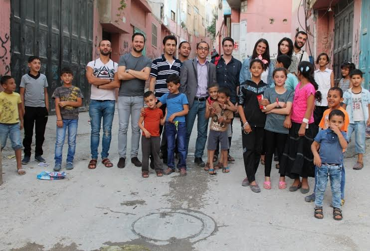 Visiting refugee camps in the West Bank