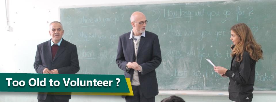 Too old to volunteer copy