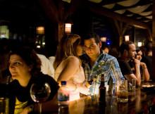Palestinians enjoy ramallah nightlife at the Orjuwan lounge bar in Ramallah Credit photo: Olivier Fitoussi.