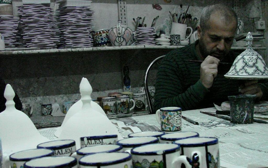 painting pottery in Hebron