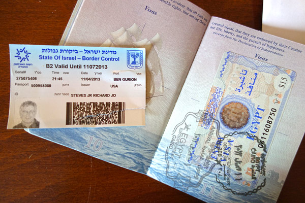 Getting An Israeli Stamp On Your Passport